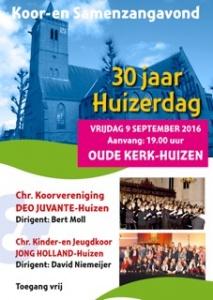 Optreden Jong Holland en Deo Juvante op 9 september in de Oude Kerk te Huizen.
