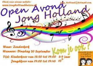 Open Avond kinderkoor Jong Holland op 20 september
