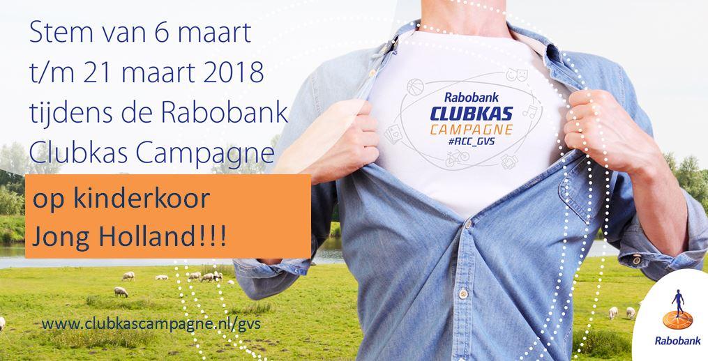 Jong Holland doet mee aan de Rabobank Clubkas Campagne